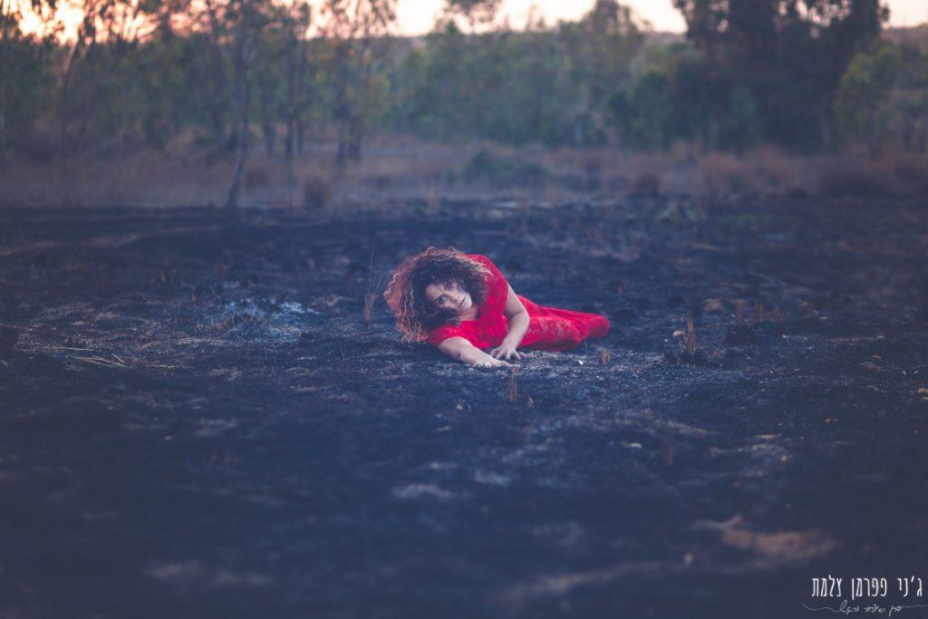"""הבלון הצהוב- סטודיו לצילום ועיצוב גרפי IMG_0158-Edit-1024x683 """"צ'אקרת השורש"""" -פרויקט צילום אישי. מורן הילה- יסוד האש. יער בארי."""